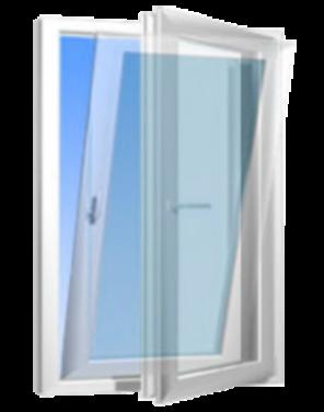 Комбинированная створка окна