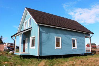 Каркасный дом, проект «Ридигер», КП «Правдинское Озеро-2» - вид сзади