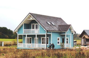 Каркасный дом с террасой по проекту Ридигер