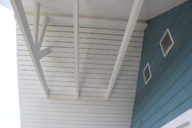 Устройство верхней террасы в каркасном доме, проект «Ридигер»