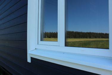 Каркасный дом Рагузин - отделка окна
