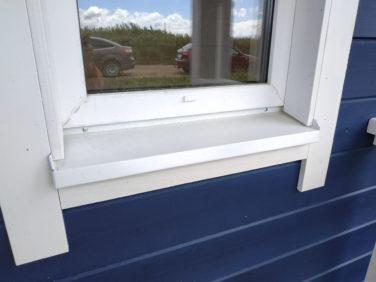 Каркасный коттедж Рагузин - наружная отделка окна