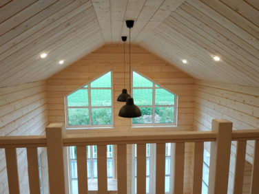 Каркасный коттедж Рагузин - гостиная, второй свет, внутренняя отделка