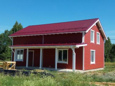 Двухэтажный каркасный дом в Симагино - вид с террасы