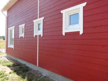 Окна подсобных помещений в загородном доме - профиль IVAPER