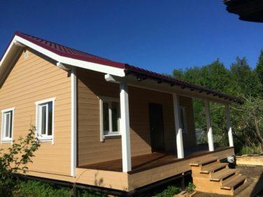 Каркасный дом в Синявино - терраса