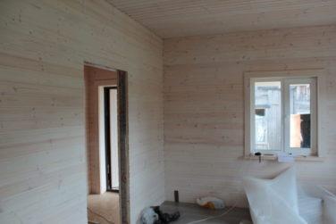Каркасный дом в Синявино - внутренняя отделка вагонкой