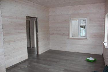 Внутренняя отделка и пол в каркасном доме (Синявино)
