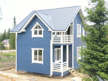 Каркасный дом по проекту Дон (п. Стеклянный)