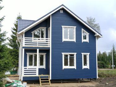 Каркасный дом по проекту Дон (п. Стеклянный) - фасад