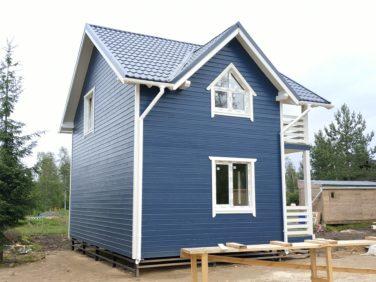 Каркасный дом по проекту Дон (п. Стеклянный) - вид сбоку