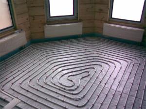 Отопление каркасного дома - Тёплый пол